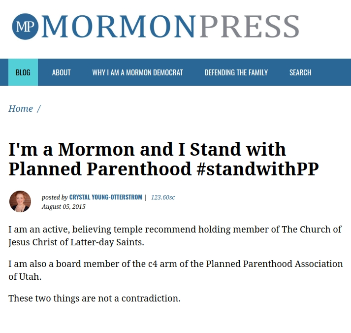 To the Mormon Woman Who #StandswithPP: A 10-Point Response (Part 2)