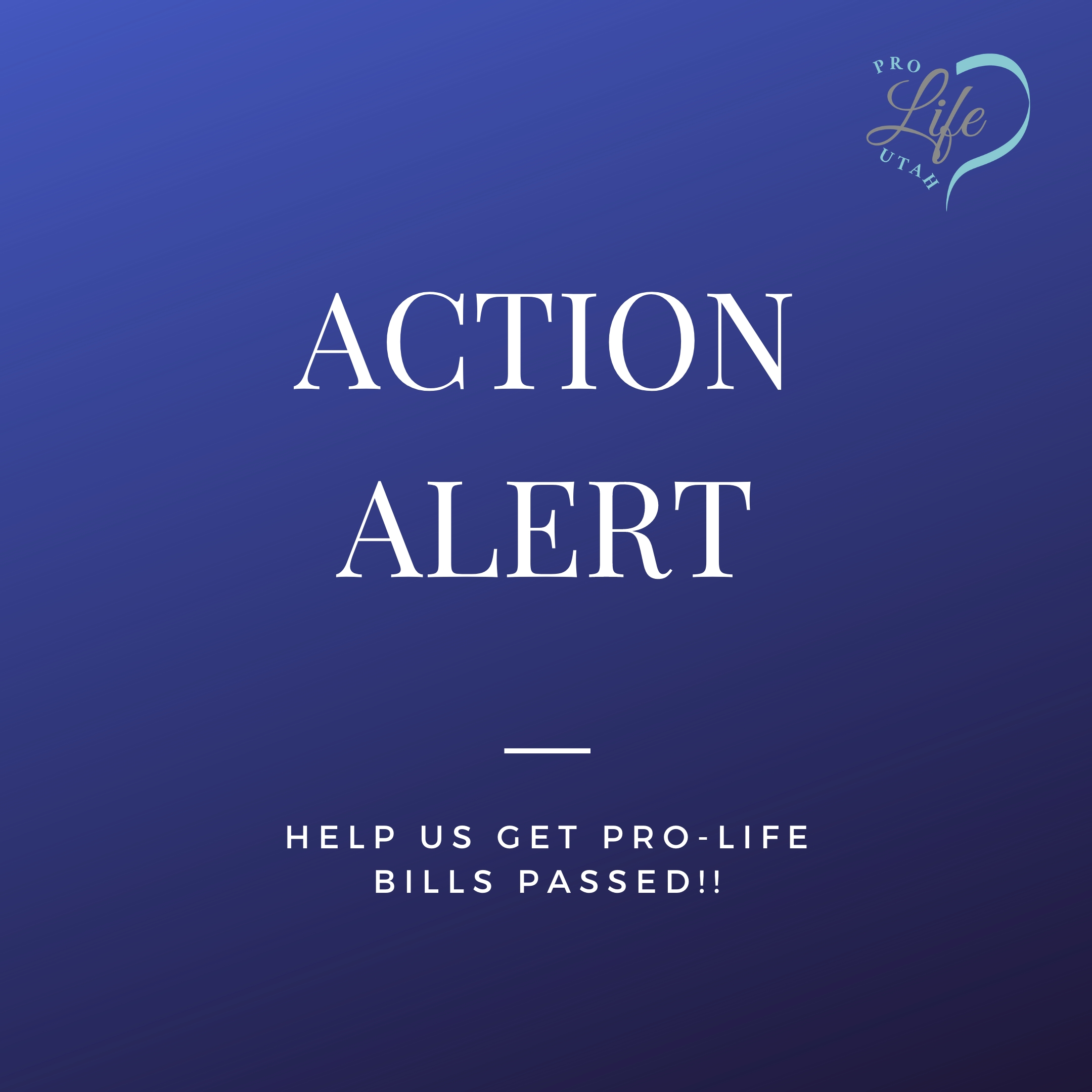 Help support Pro-Life Bills this Session